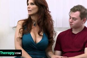 Wild Teenage Romps His Thick Knockers Stepmom And The Molten Mature Milf Doctor